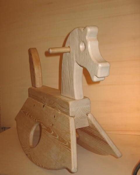 Cavallo A Dondolo Artigianale.Cavallo A Dondolo