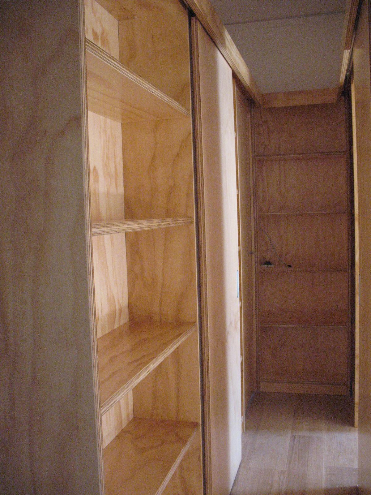 corridoio in legno