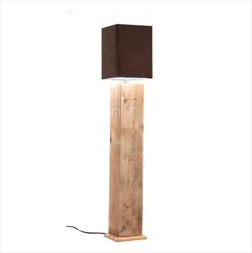 lampada in legno rustica