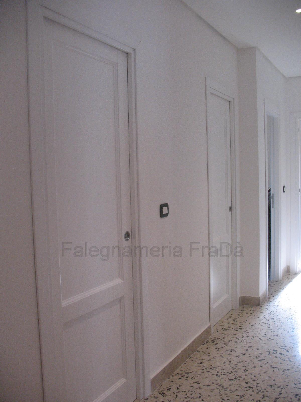 porte moderne laccate bianco