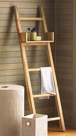 scala-legno-naturale porta tovaglie bagno