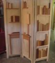 separè artistico in legno
