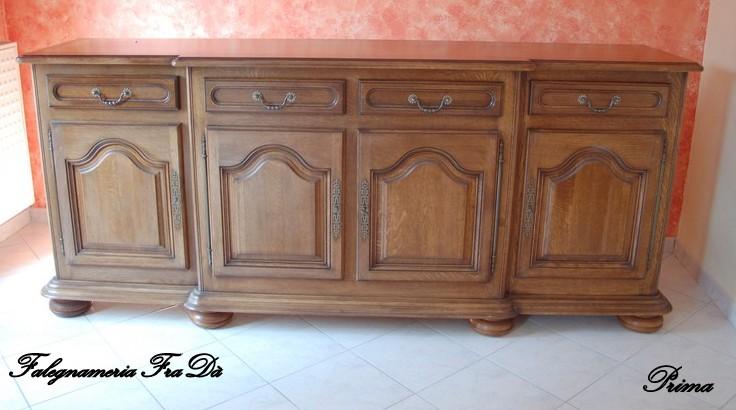Recupero e trasformazione di un vecchio mobile in legno falegnameria frad falegname a palermo - Dipingere mobili vecchi ...