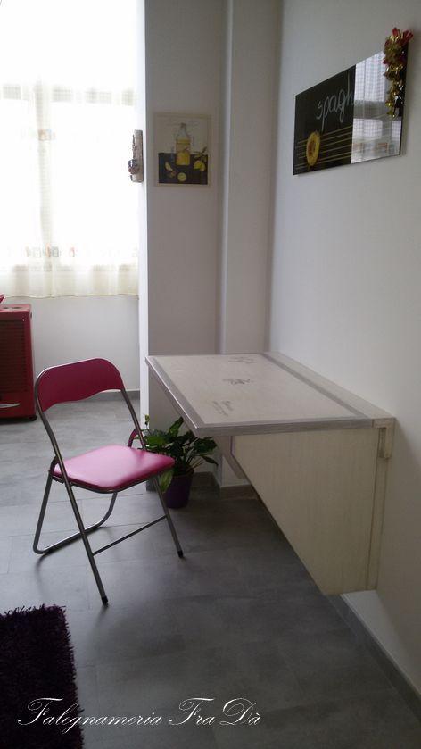 cucina moderna artigianale particolare tavolino pieghevole