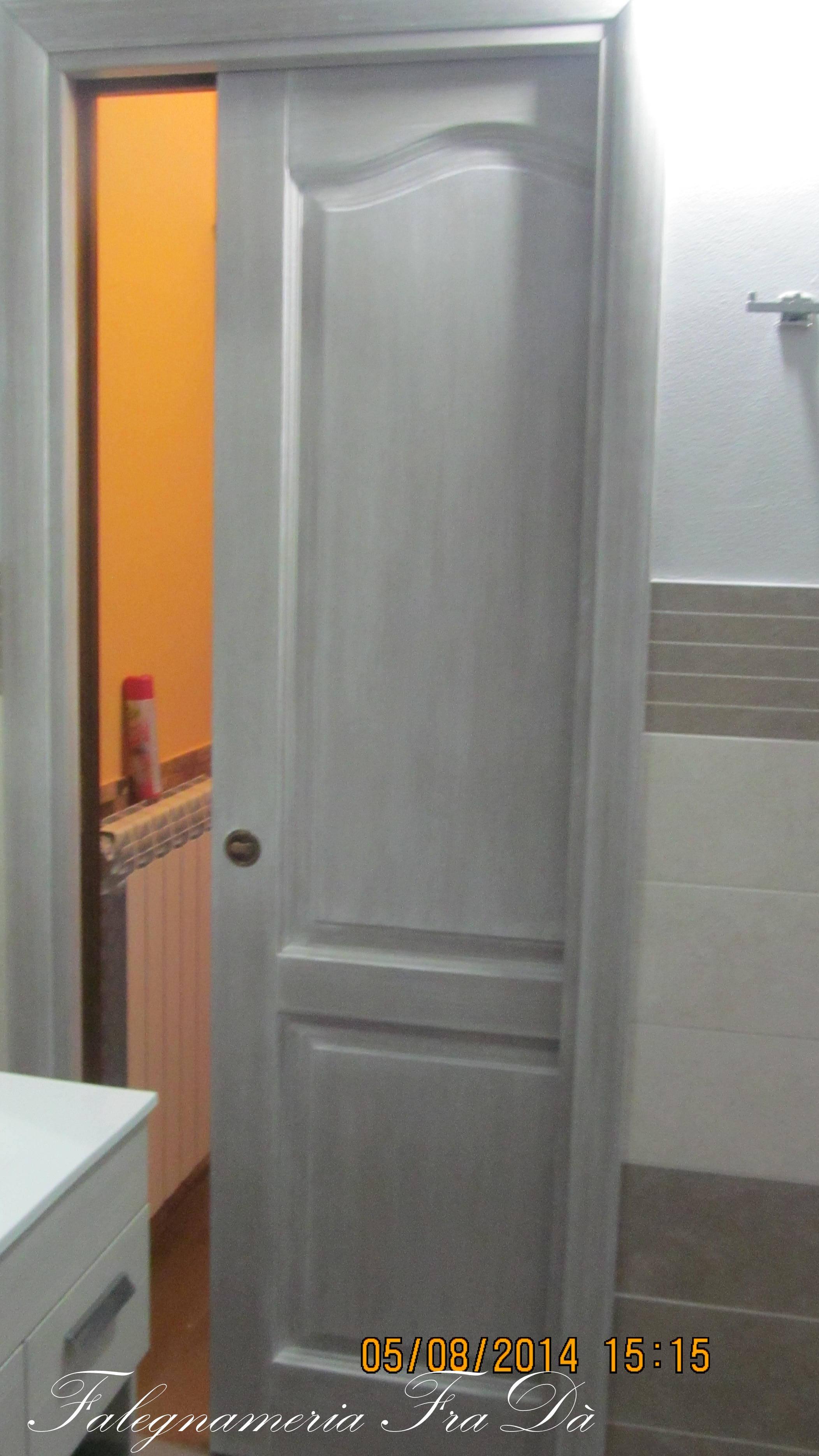 Porta in legno massello scorrevole falegnameria frad falegname a palermo - Porta in legno massello ...