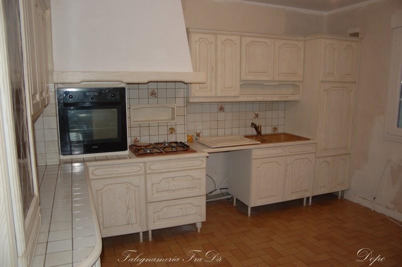 Recupero creativo di una vecchia cucina risultato finale - Modernizzare vecchia cucina ...