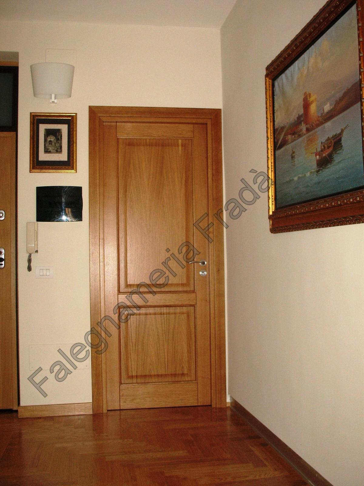 porte interne in legno massello di rovere - Falegnameria Fradà ...