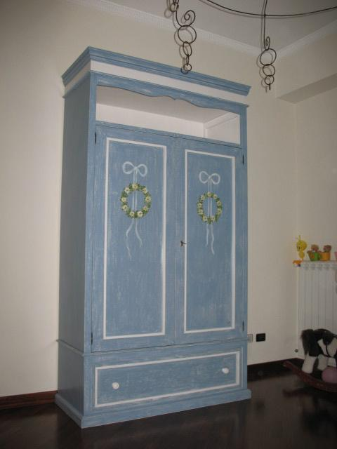 armadio artigianale in legno