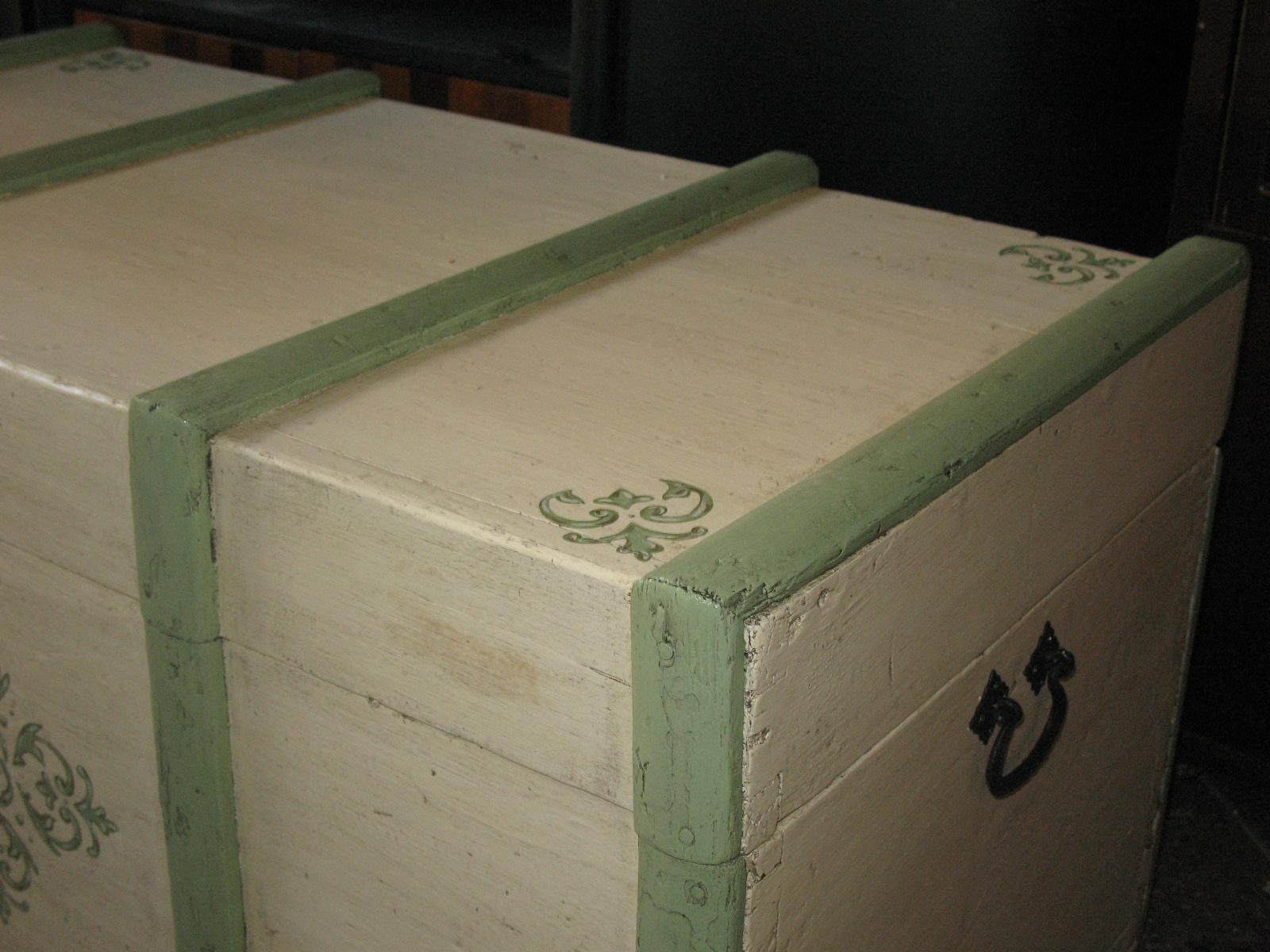 baule legno restauro