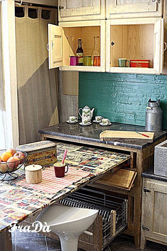 Cucina in legno stile vintage falegnameria frad - Cucina falegname ...