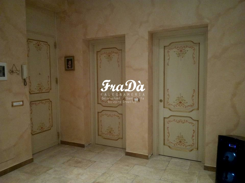 Restauro porte a palermo falegnameria frad falegname - Porte decorate a mano ...