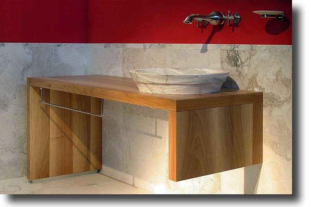 Bagno Legno Naturale : Arredare il bagno con mobili in legno falegnameria fradà