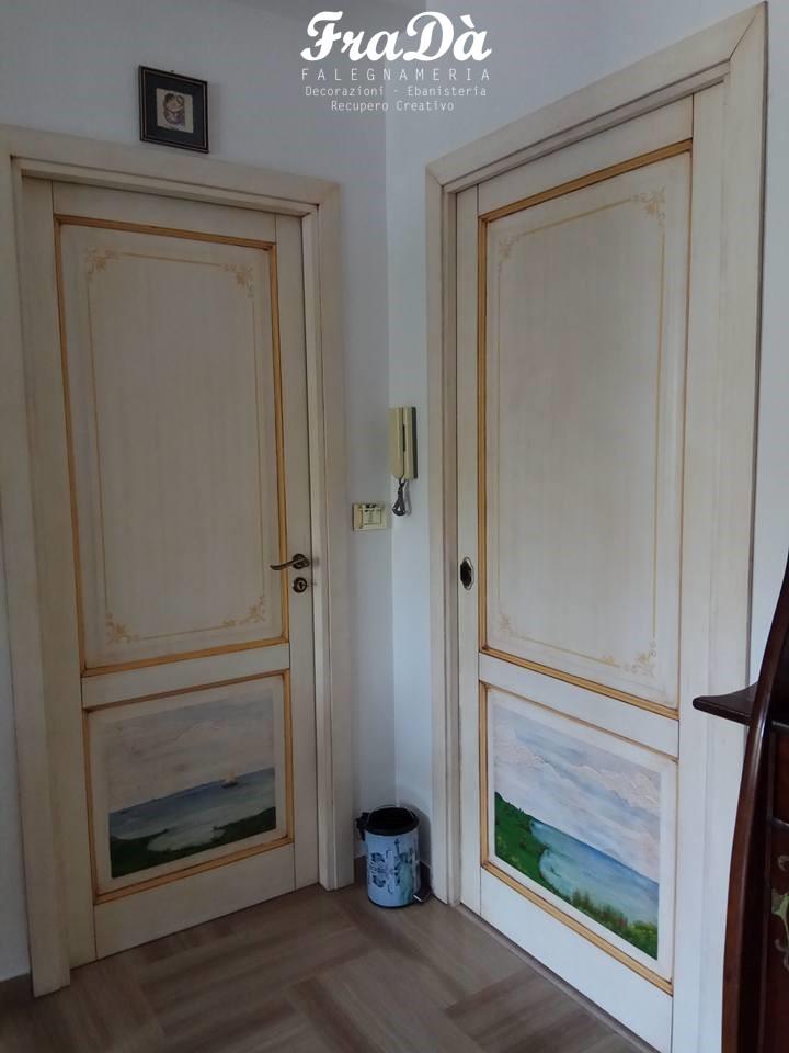 Porte in legno decorate a mano - Falegnameria Fradà - falegname a ...