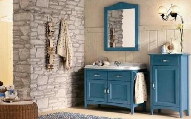 Mobili in legno massello per il bagno country - Mobili per il bagno in legno ...
