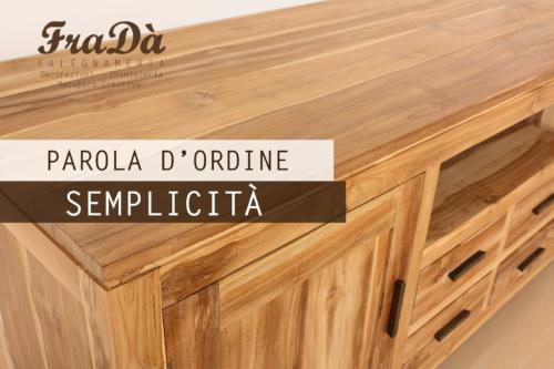 mobili in legno naturale