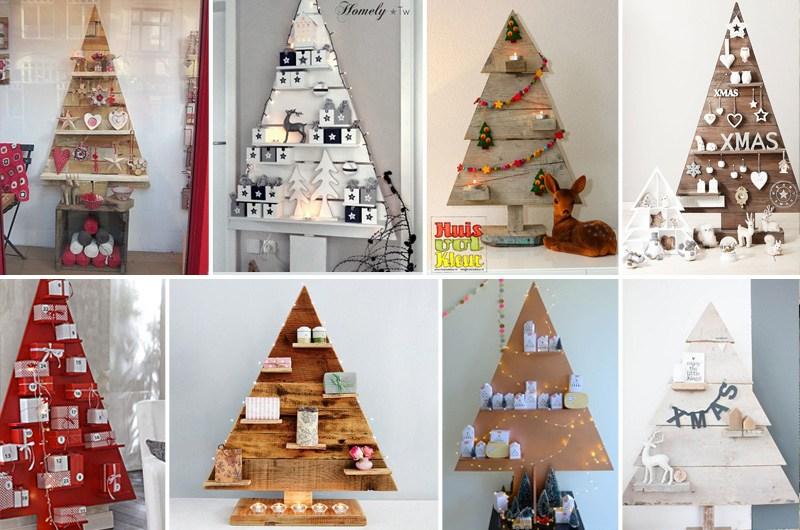 Assi Di Legno Decorate : Idea natalizia! albero di natale in legno! falegnameria fradà