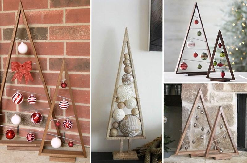 Decorazioni In Legno Per Albero Di Natale : Idea natalizia albero di natale in legno falegnameria fradà