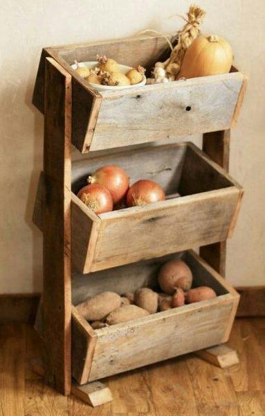 Porta frutta e ortaggi in legno