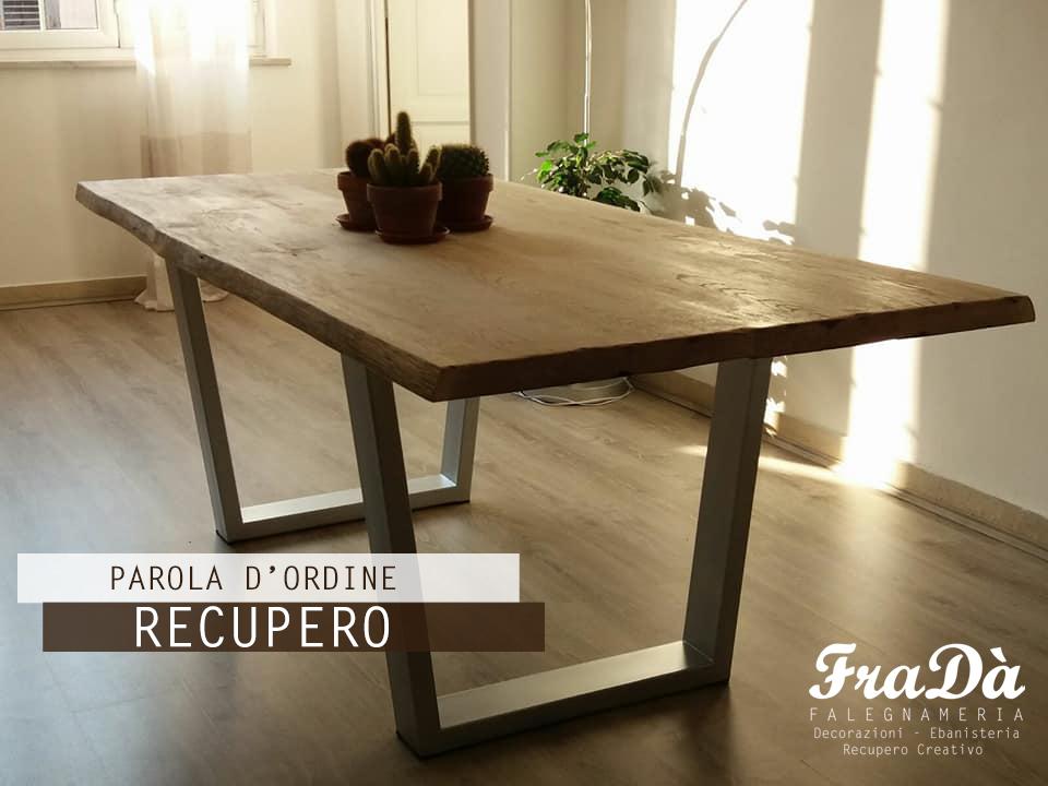 Tavolo in legno massello e ferro 01