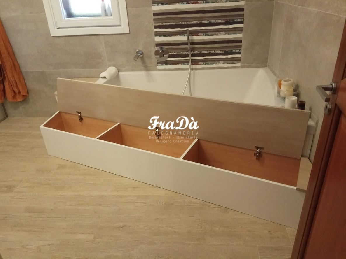 Vasca Da Bagno Su Misura : Mobili contenitori per bagno su misura falegnameria fradà