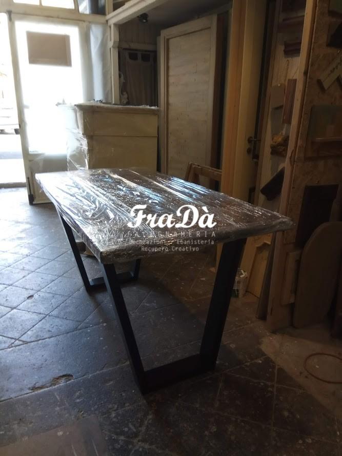 Realizzazione Di Un Tavolo Di Design In Legno Massello E Ferro Falegnameria Frada Falegname A Palermo