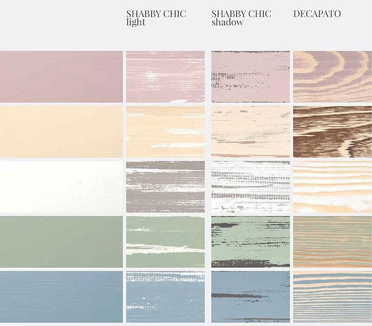 i colori per lo Shabby Chic