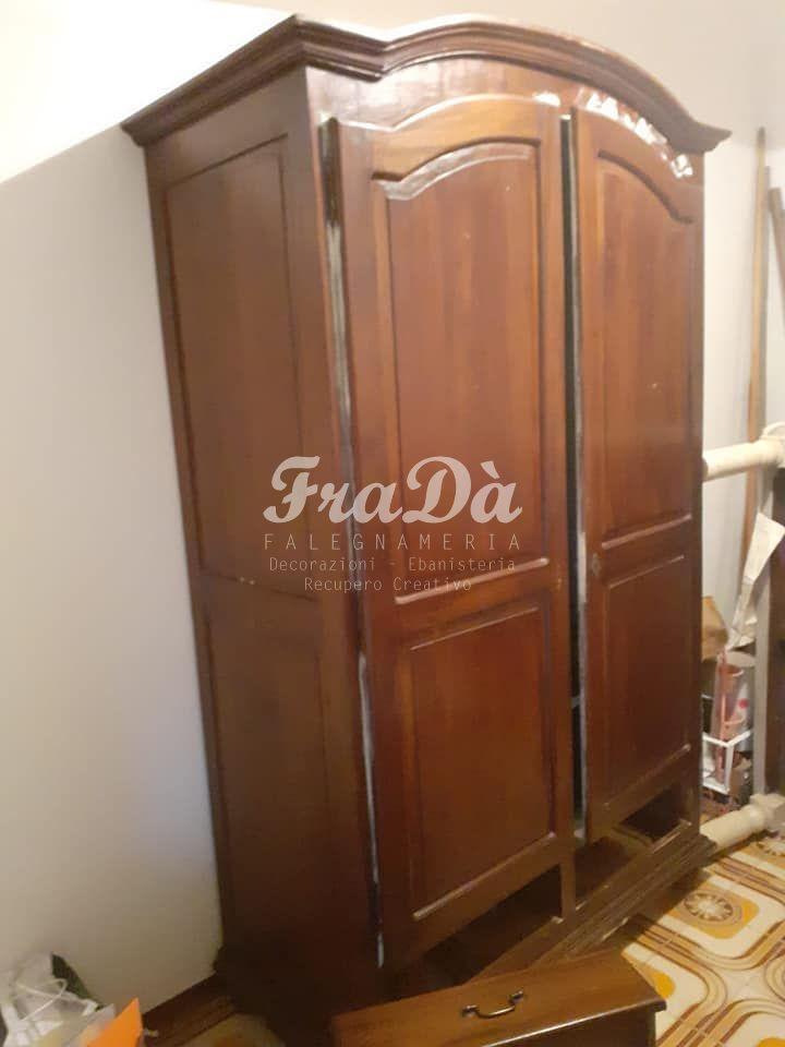 restauro armadio in legno