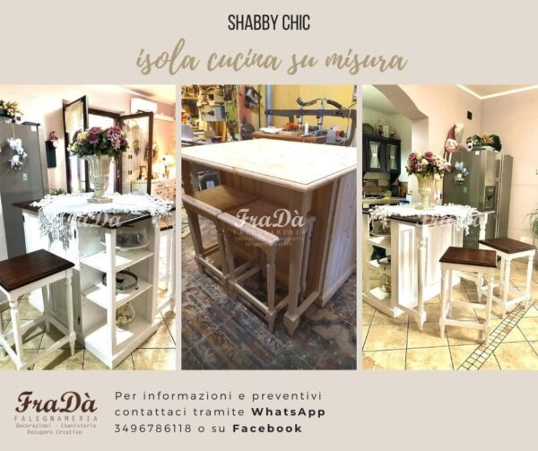 Isola Cucina Shabby Chic